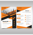 business flyer template with orange geometric vector image vector image