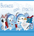 business ideas 4 vector image
