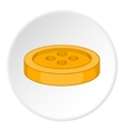 Button icon flat style vector image vector image