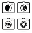 camera set icon vector image