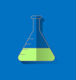 chemistry flask icon science technology flat vector image