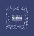 christmas holiday frame with paper cut style vector image vector image
