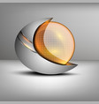 colored sphere shaped emblem vector image vector image