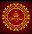 Creative Diwali greeting vector image vector image