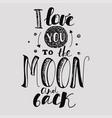 declaration of love light background black vector image