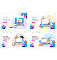 e-learning online education at home modern vector image