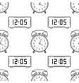 electronic watch and alarm clock black and white vector image vector image