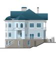 facade house vector image vector image