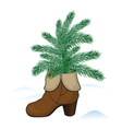 Fir tree in the boot vector image