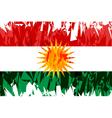Flag of Kurdistan vector image