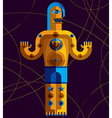 Flat design drawing of odd character art picture vector image vector image