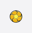 football yellow logo icon soccer ball vector image vector image