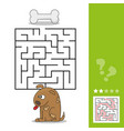 funny game for children education maze help the vector image