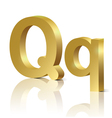 Golden letter Q vector image vector image