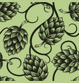 green beer hop cones seamless pattern