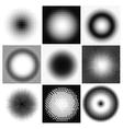 Halftone dots circles vector image vector image