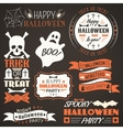 Halloween vintage set - labels ribbons vector image vector image
