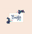 happy easter decorated easter card banner vector image vector image