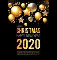 happy new 2020 year shining greeting card vector image vector image