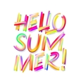 Hello Summer typographic design on isolated white vector image vector image