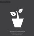 houseplant premium icon white on dark background vector image