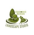 icon for landscape studio vector image vector image