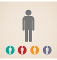 icons with a male sign vector image vector image