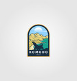 komodo island vintage logo national park design vector image vector image