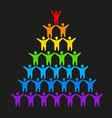 lgbt gay lesbian vector image vector image