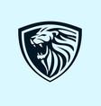 lion shield design idea vector image vector image