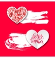 love banner with heart origami paper lettering and vector image vector image