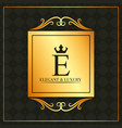 luxury and elegant e letter golden banner swirl vector image vector image