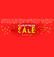 merry christmas sale banner with glitter confetti vector image vector image