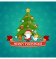 Merry Christmas Tree vector image vector image