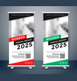 modern style rollup standee banner design vector image vector image