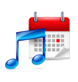 Music note and calendar vector image