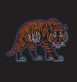 neon tiger graphic for t-shir vector image vector image