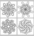 oriental mandalas vector image