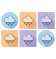 outlined icon of light snow weather with parallel vector image vector image