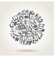 School icons sketch vector image vector image