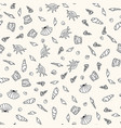 seamless sea life monochrome pattern vector image vector image