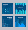 set of 4 creative covers with infographic elements vector image vector image