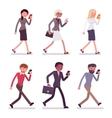 Set of men and women vector image vector image
