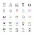 set of web and mobile application development vec vector image