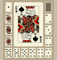 spades suit playing cards vector image