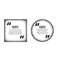 square and circle quote frames design set vector image