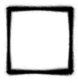 square graffiti thin sprayed icon in black vector image vector image