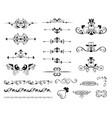 variety vintage ornaments set vector image vector image