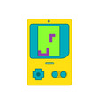 vintage portable video game vector image vector image