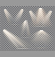 warm light set on a transparent vector image